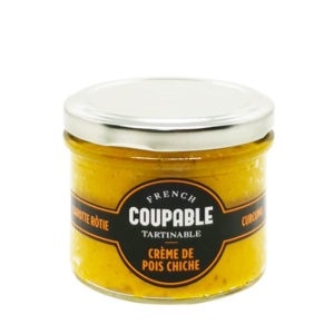 Coupable Tartinable Crème de Pois Chiche Carotte Curcuma